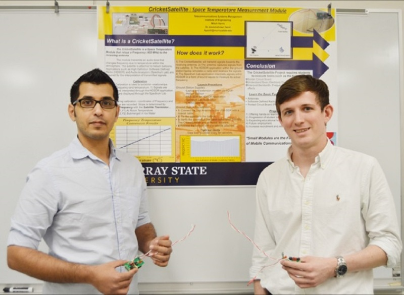 Students create a very tiny satellite and display at Capitol | Murray State University, science,