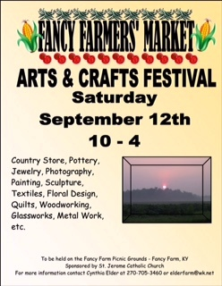 Fancy Farm Arts & Crafts Fair Sept 12