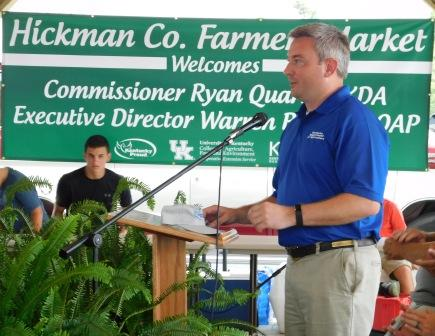 Farmer's Market opens in Rotary Park | agriculture, Hickman County Kentucky, farming, Ryan Quarles, farmers markets