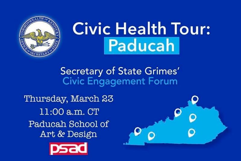 Kentucky Secretary of State to be in Paducah March 23rd