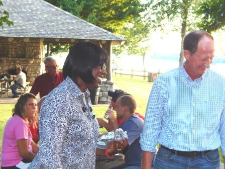 Jenean Hampton and Rep. Richard Heath