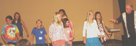 Students attend Music-Art-Drama Camp (or MAD-Camp)