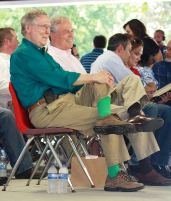 Fancy Farm 2015: What's with the socks, Senator?