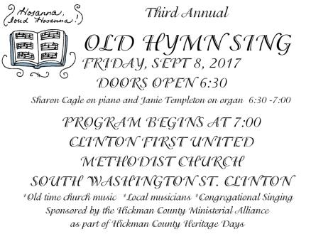 Old Hymn Sing - community sharing old time music
