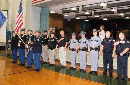 Graves County Schools faculty and staff celebrate Opening Day of 2016-17 school year with salute to law enforcement