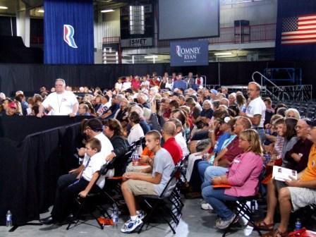 The Ryan victory rally crowd