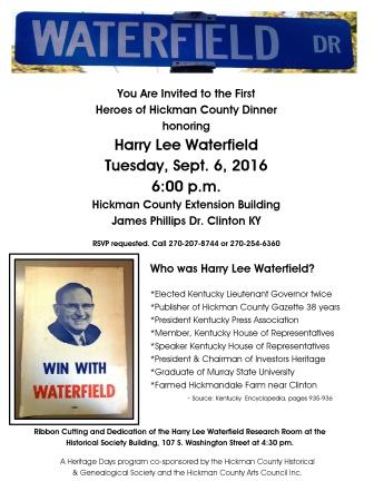 Waterfield dinner - September 6th