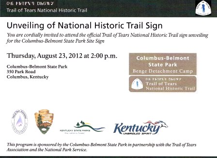 Columbus Belmont Park to unveil Trail of Tears sign