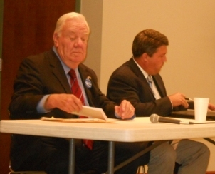 Hubbard and Humphries answer questions from Farm Bureau   Carroll Hubbard, Stan Humphries, Farm Bureau, West Kentucky, General Assembly