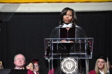 First Lady delivers inspirational speech to EKU grads | Michelle Obama, Eastern Kentucky University, veterans, college, Richmond, graduation