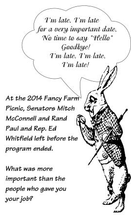 A white rabbit moment at Fancy Farm  | Mitch McConnell, Ed Whitfield, Rand Paul,