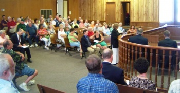 Large crowd attends PSC meeting in Clinton