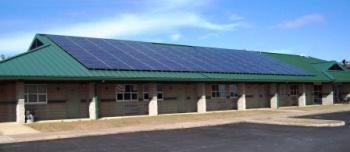 Greenville Kentucky National Guard Facility goes green.