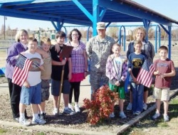 Wingo Elementary's Green Team salutes military on Veterans' Day