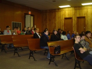 Four high school mock trial teams have first scrimmage