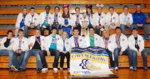Graves Cheerleaders show off winners jackets