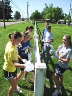 Graves County High School Students in service to community