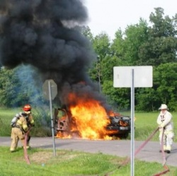 Fulton Fire Department stays busy with car accident and truck fire