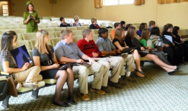 Leadership students visit MSU and Mayfield