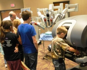 Western Baptist offered team members time to see the Da Vinci surgical robot