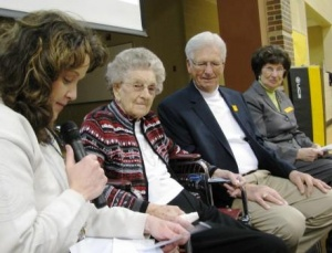 Fancy Farm Elementary students compare 100 days of school to 100 years of life with visit of centenarian Lucille Jones