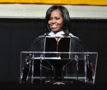 First Lady delivers inspirational speech to EKU grads | Michelle Obama, Eastern Kentucky University, veterans, college, Richmond, graduation