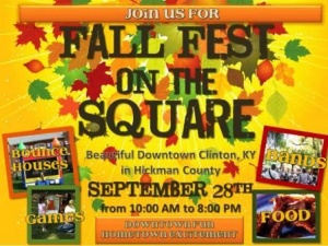 Fall Fest on the Square- Clinton Sept. 28th