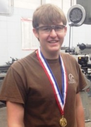 GCHS student, Hunter Wilkerson,  places first in precision machining