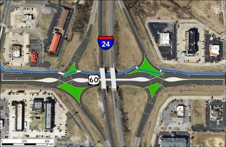KYDOT proposing improved I-24 interchange