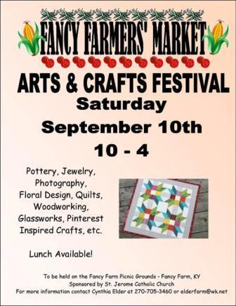 Fancy Farm Arts Sale Saturday brings out shoppers