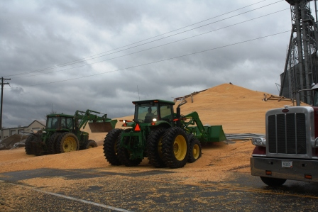 Cleaning up the mess of 1/2 million bushels of corn