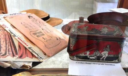 Coralyn Bugg's first grade lunchbox on display