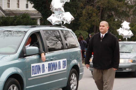Eddie Crittenden of Fulton Co. walked in Inaugural Parade