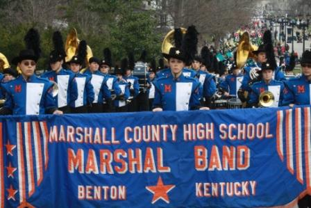 Marshall Co. was one of many bands in Inaugural Parade