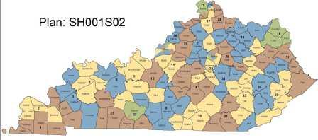 The new Ky senate map