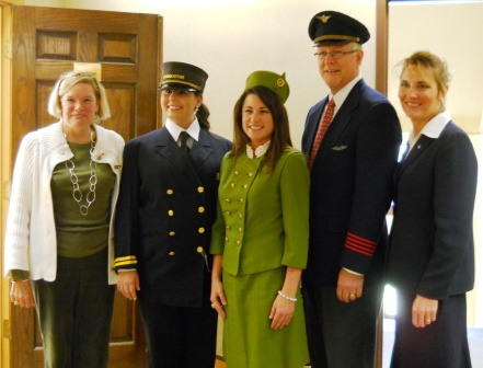 L to R: Kate Reeves, Amber Schaudt, Holly Pritchard, Mark Welch, Gina Winchester