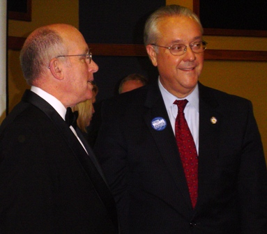 MC Bob Valentine and Senate President David Williams