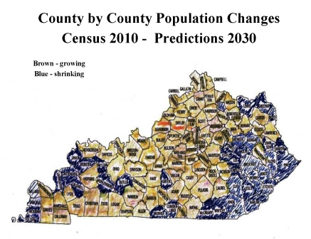 Tipping Point: Mapping Predicted Population Changes - 2010 - 2030