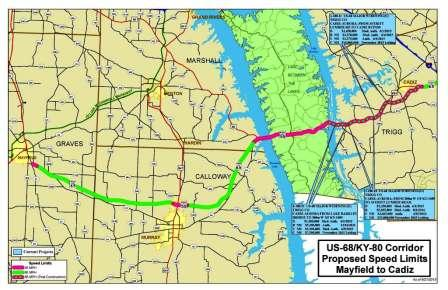 Governor raises speed limit between Mayfield and Murray and more