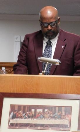 Professor Clardy presents black history lecture to interested audience