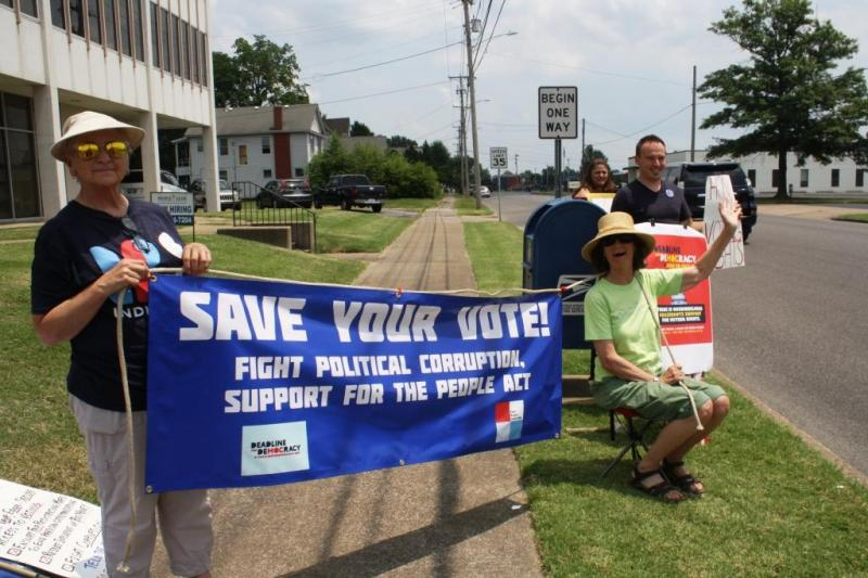 Save Your Vote - Indivisible visits McConnell office