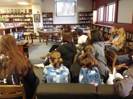 HCHS students skype with author