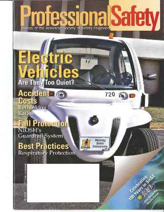 Professional Safety magazine featured MSU electric car