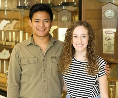 dos Remedios and Kelly National Merit Scholarship semifinalists