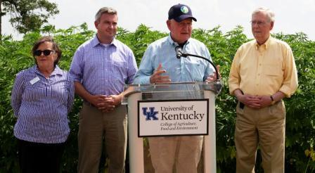 US Ag Secretary gets out of DC and into hemp in KY | agriculture, research, science, Sonny Perdue, Mitch McConnell, Ryan Quarles, rural