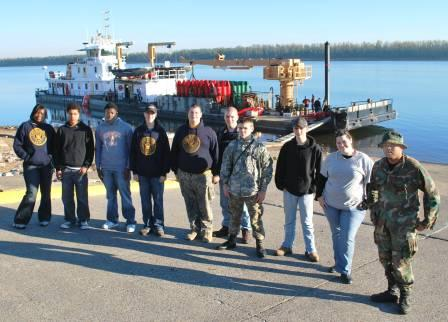 Students from left to right are:  Chay Sims, Cody Thomas, Branden Diggs, Dustin Shirley, Patrick Lane, Brandon Hummel, Benjamin Kohler, Matthew Riley, Rebecca Boone, and Matthew Gager.