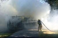 Fulton building fire destroys outbuilding