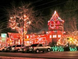 Christmas season all lit up in Grand Rivers