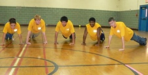 PTHS students in Push Up Challenge