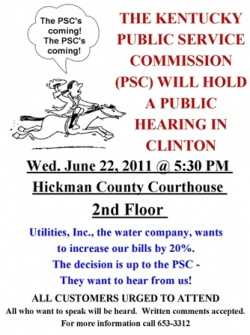 PSC Sets Public Meetings in Water Service Corp. Case